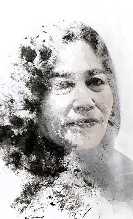 portrait Junglin Lee photo et design graphic Yannick Ribeaut ©2018