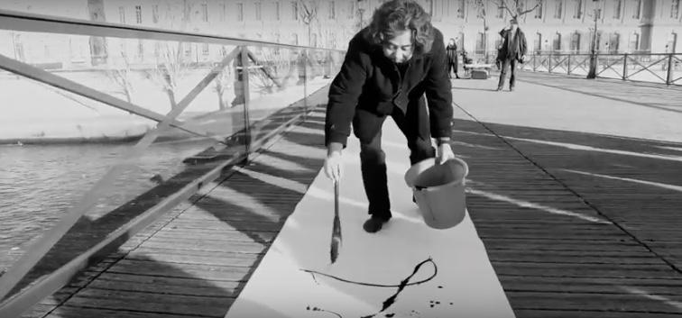 Chen_weinong Calligraphie Pont des arts Paris