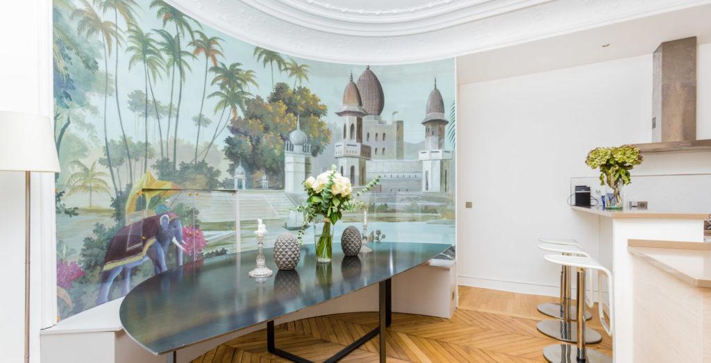 Photo de décoration salon cuisine ouverte